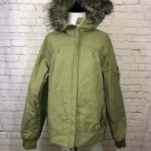 686 Mannual Green Winter Snow Ski Snowboard Coat